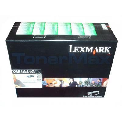 LEXMARK X651 X658 PRINT CARTRIDGE BLACK RETURN PROGRAM
